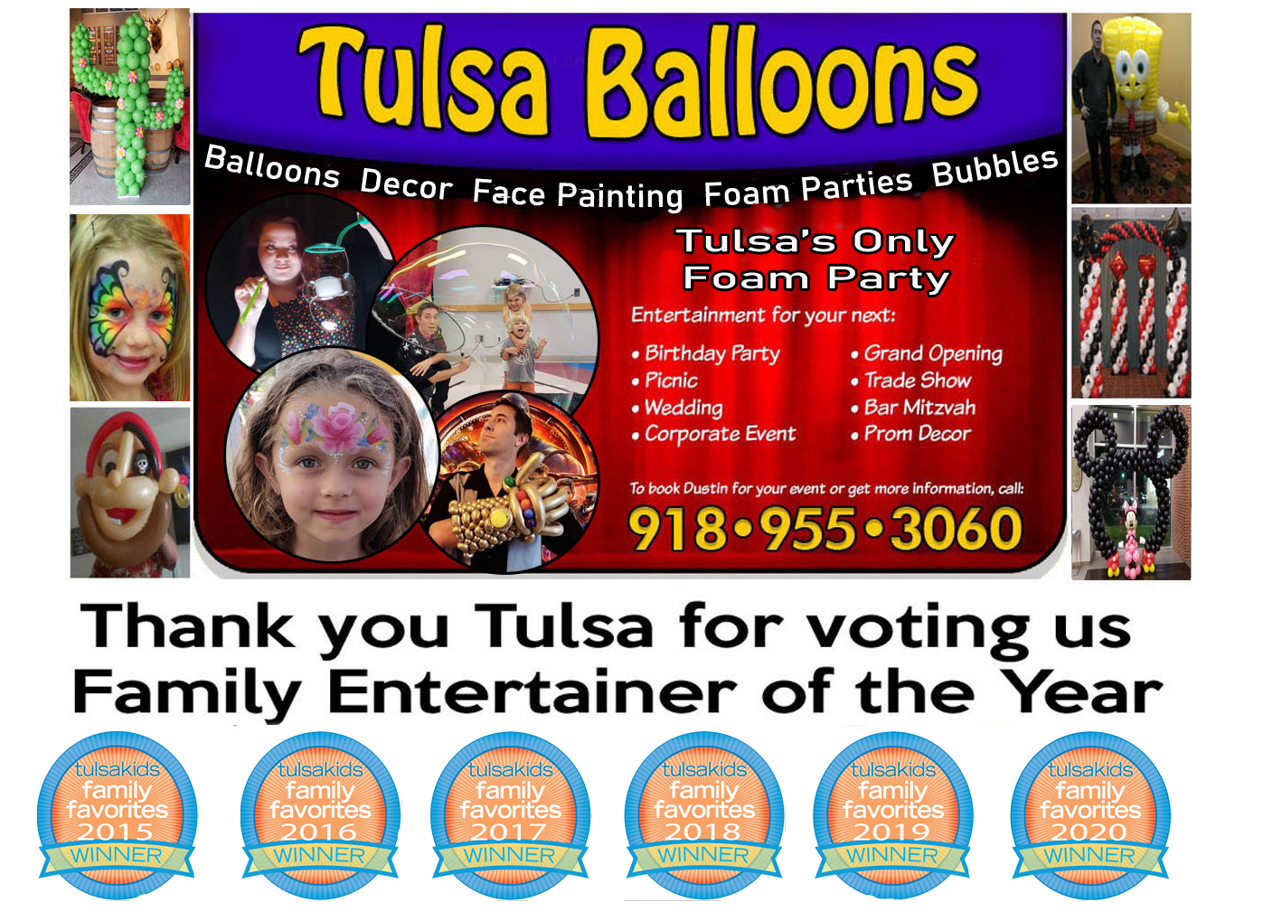 ForAllEntertainment.com: Balloon Sculptures & Decor, Juggling, Fire-Eating, Magic, Clowning