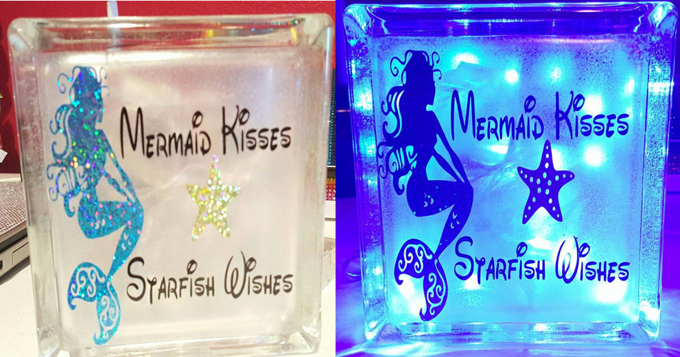 Custom Glass Block Night Light